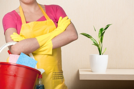 cleaning up: Cleaning. Stock Photo
