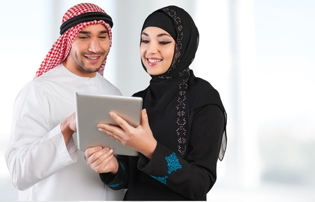 arabic man: Saudi. Stock Photo