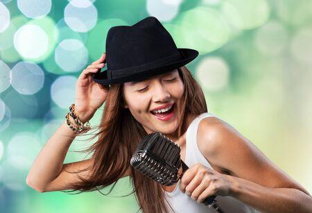 singer: Singer. Stock Photo