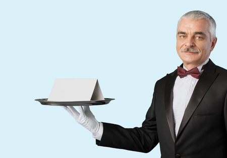 domestic staff: Butler. Stock Photo