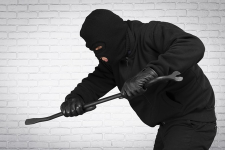 looting: Burglar. Stock Photo