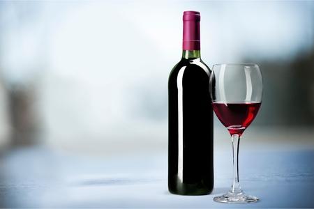Wine Bottle. Stock Photo