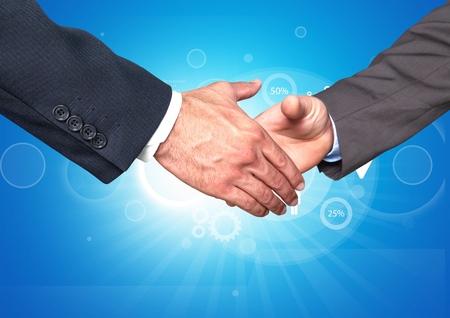 bridging the gap: Handshake. Stock Photo
