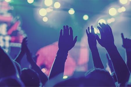 menschenmenge: Popmusik-Konzert.