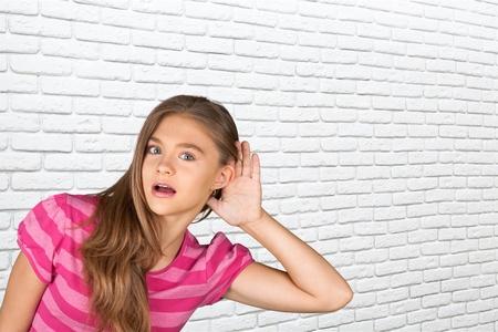 elementary age girls: Listening.