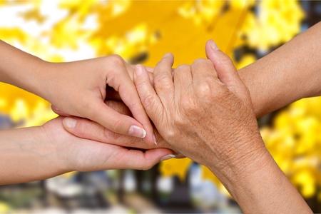 80 plus adult: Human Hand.
