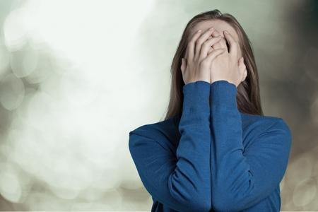 depresión: Mujer. Foto de archivo