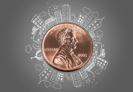 us coin: Penny.