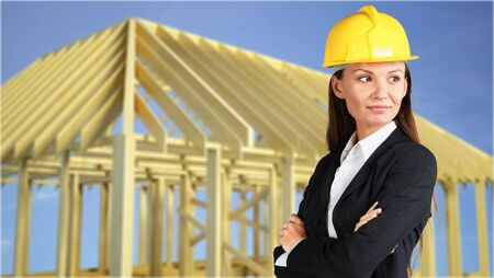 worker construction: Construction. Stock Photo