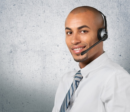 adults only: Customer Service Representative. Stock Photo