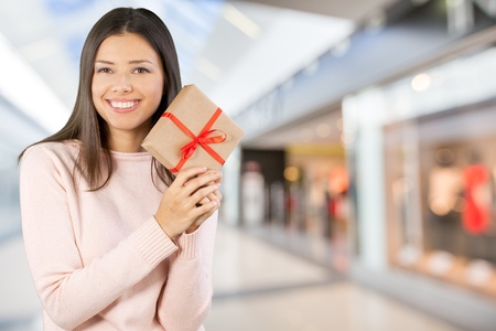 only teenage girls: Gift. Stock Photo