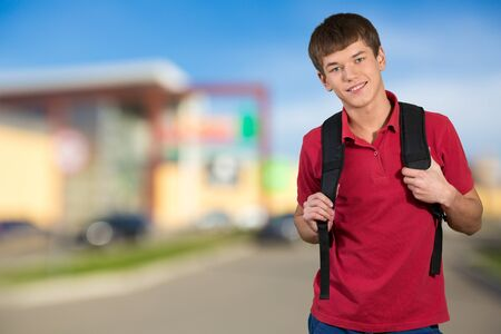 southern european descent: Student. Stock Photo