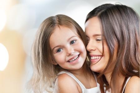 smiling family: Mum.