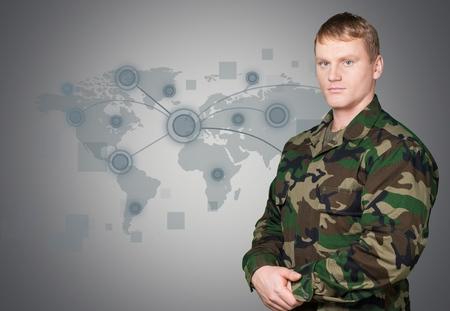 uniformes: Fuerzas Armadas. Foto de archivo