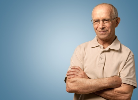 old man smiling: Senior Men. Stock Photo