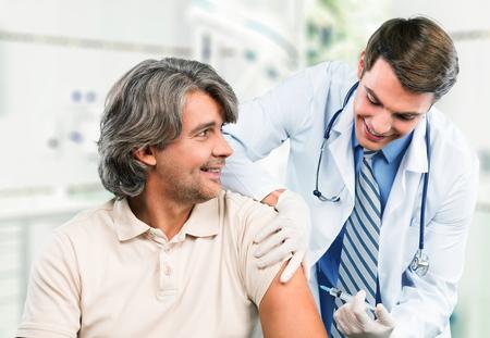 vacuna: La inyecci�n.