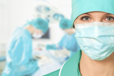 cirujano: Doctor.  Foto de archivo