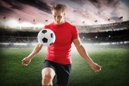 juggle: Soccer. Stock Photo