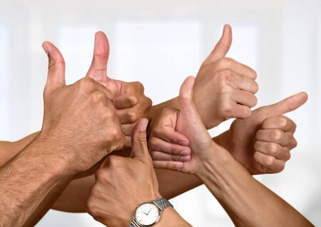 expressing positivity: Thumbs Up.