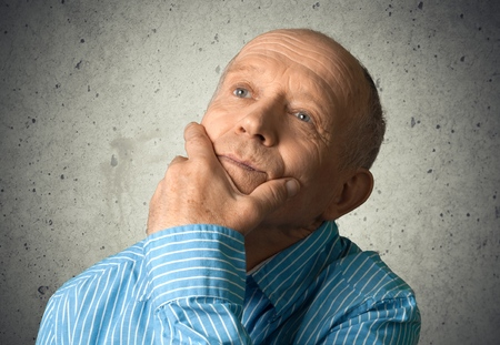 only men: Thinking. Stock Photo