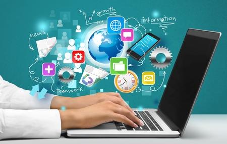 kommunikation: Hälsovård och medicin. Stockfoto