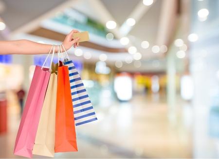 shopping: Tarjeta de crédito. Foto de archivo