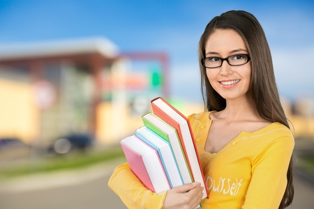 only teenage girls: Student. Stock Photo