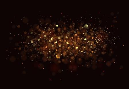glittering: Gold.
