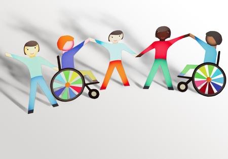 Dzieci: Niepełnosprawny. Zdjęcie Seryjne