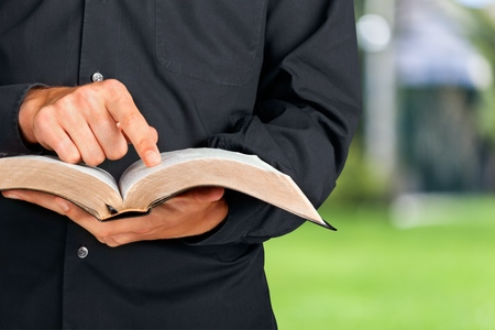 church: Bible. Stock Photo
