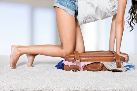 overflowing: Bag. Stock Photo