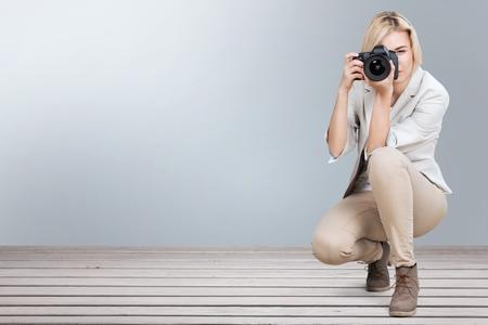 female photographer: Photographer.