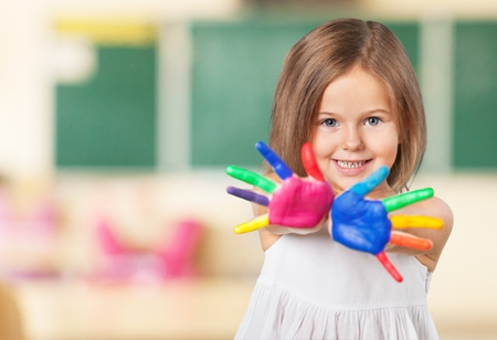fun colors: Kid. Stock Photo