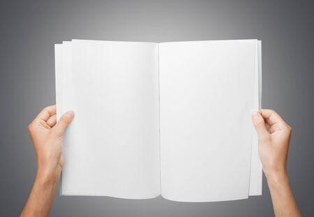 open hands: Magazine. Stock Photo