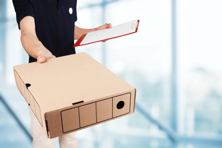 dropoff: Package. Stock Photo