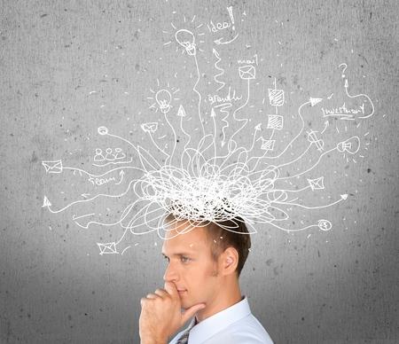 Thinking. Stock Photo