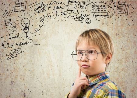 egghead: Chalkboard. Stock Photo