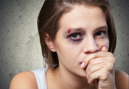 abuse young woman: Woman.