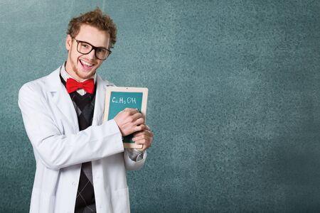white coat: Scientist.