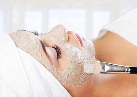 spa mud: Facial Mask. Stock Photo