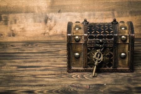 chest: Lock. Stock Photo