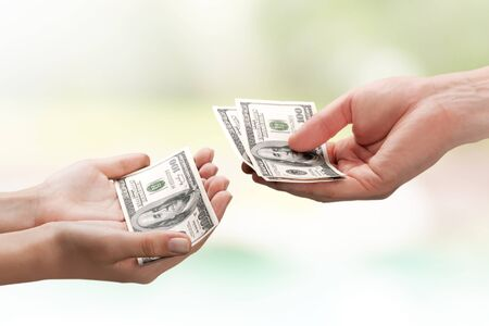 pay raise: Allowance. Stock Photo
