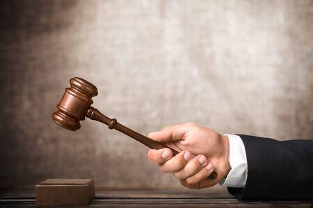 gavel: Judge. Stock Photo