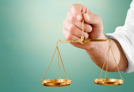balanza de la justicia: Escala de peso.