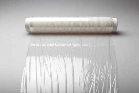 plastic wrap: Plastic.
