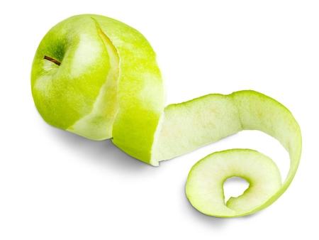 peeled: Apple. Stock Photo