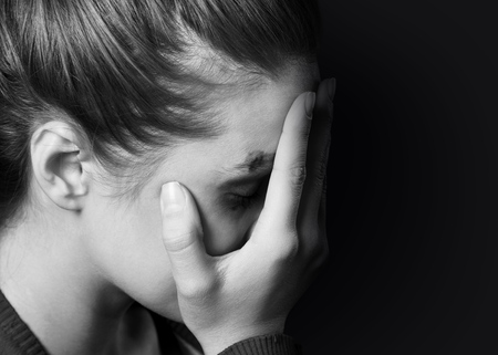 stress woman Standard-Bild