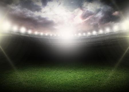 pelota rugby: Noche. Foto de archivo
