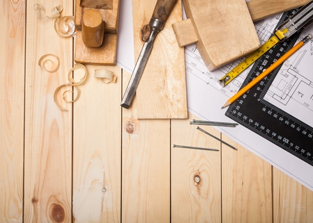 carpentry: Carpentry. Stock Photo