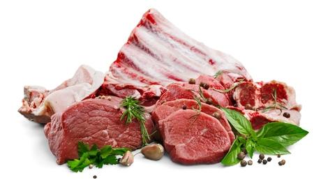 carnes rojas: Picar. Foto de archivo